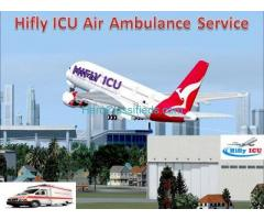 Hifly ICU Air Ambulance in Ranchi with Advanced Life Support System