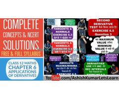 Applications of Derivatives Class 12 Maths - Ashish Kumar Let's Learn