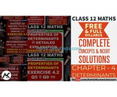 Determinants Class 12 Maths - Ashish Kumar Let's Learn