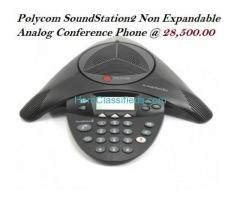 Polycom SoundStation2 Non Expandable Analog Conference Phone
