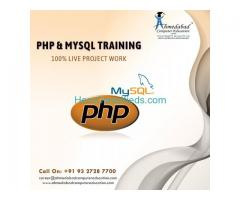 PHP training Courses and Live IT Project Training 100% Placement Institute in Ahmedabad