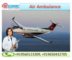 Pick Most Reliable Air Ambulance in Jamshedpur by Medivic Aviation with MD Doctor