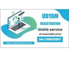 Online udyam Registration service at reasonable price @9905936071