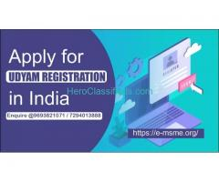 Apply for udyam registration in India @9693821071
