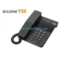 Alcatel T22 landline phone with caller ID and handsfree function.