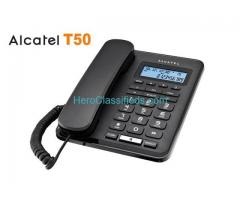 Alcatel T50 Black corded landline phone with caller id and handsfree function!