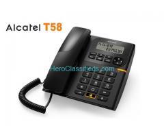 Alcatel T58 and eco-friendly handsfree corded landline phone