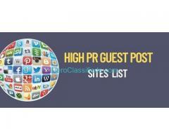 High PR Guest Post Sites List