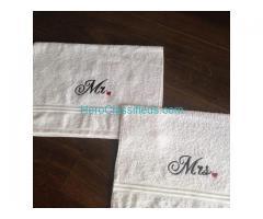 Mr and Mrs Hand towel Set