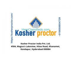 Kosher proctor  -  best consultant in India.