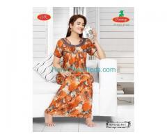 Buy Nighties    Women's Nighties Cotton CambricCotton Satin Rayan PC PV
