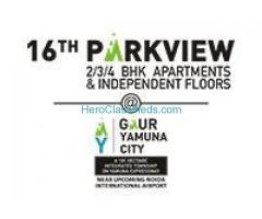 Gaur Yamuna  City 16th Parkview @# +91-9958658585 @ Yamuna Expressway